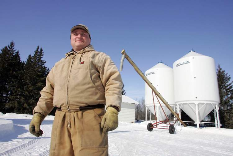 Doug Chorney, seen in a file photo, says farmers will adjust seeding plans based on the time it takes for the snow to melt and whether their fields get flooded.