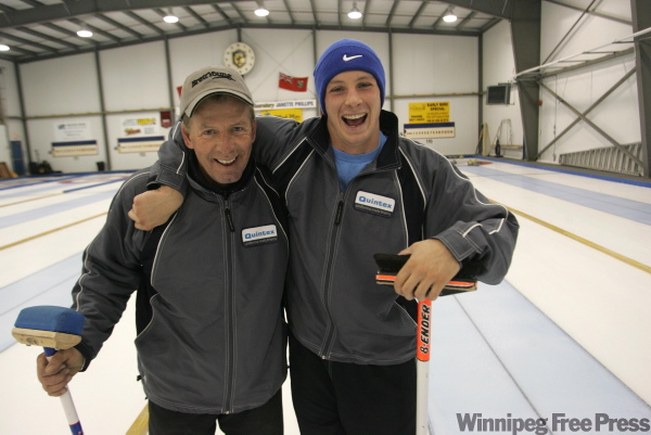 Vic Peters (left) and son Daley hope they'll be a winning combination.
