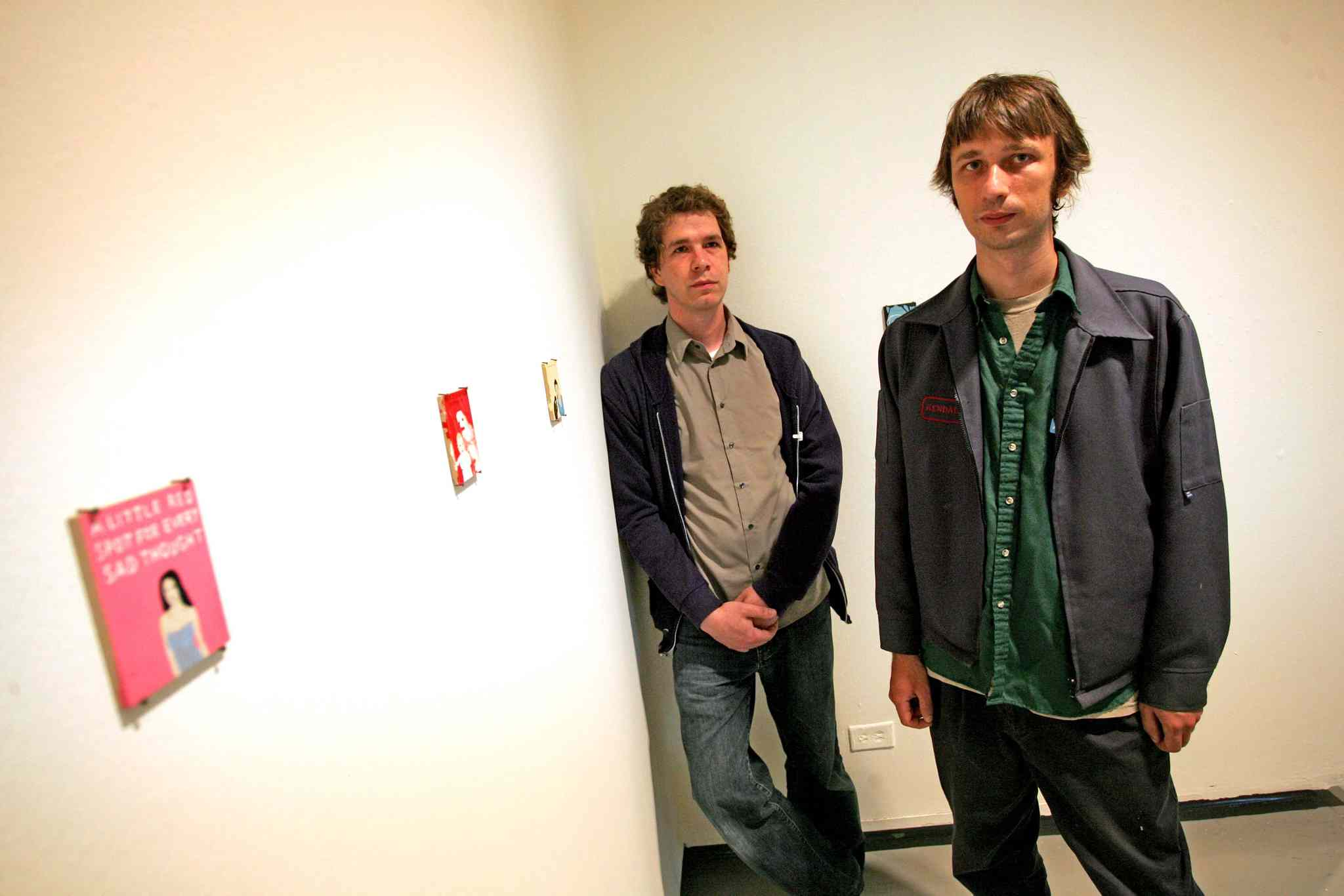 Michael Dumontier and Neil Farber at their show 'where is here?' at the Winnipeg Art Gallery in 2007.