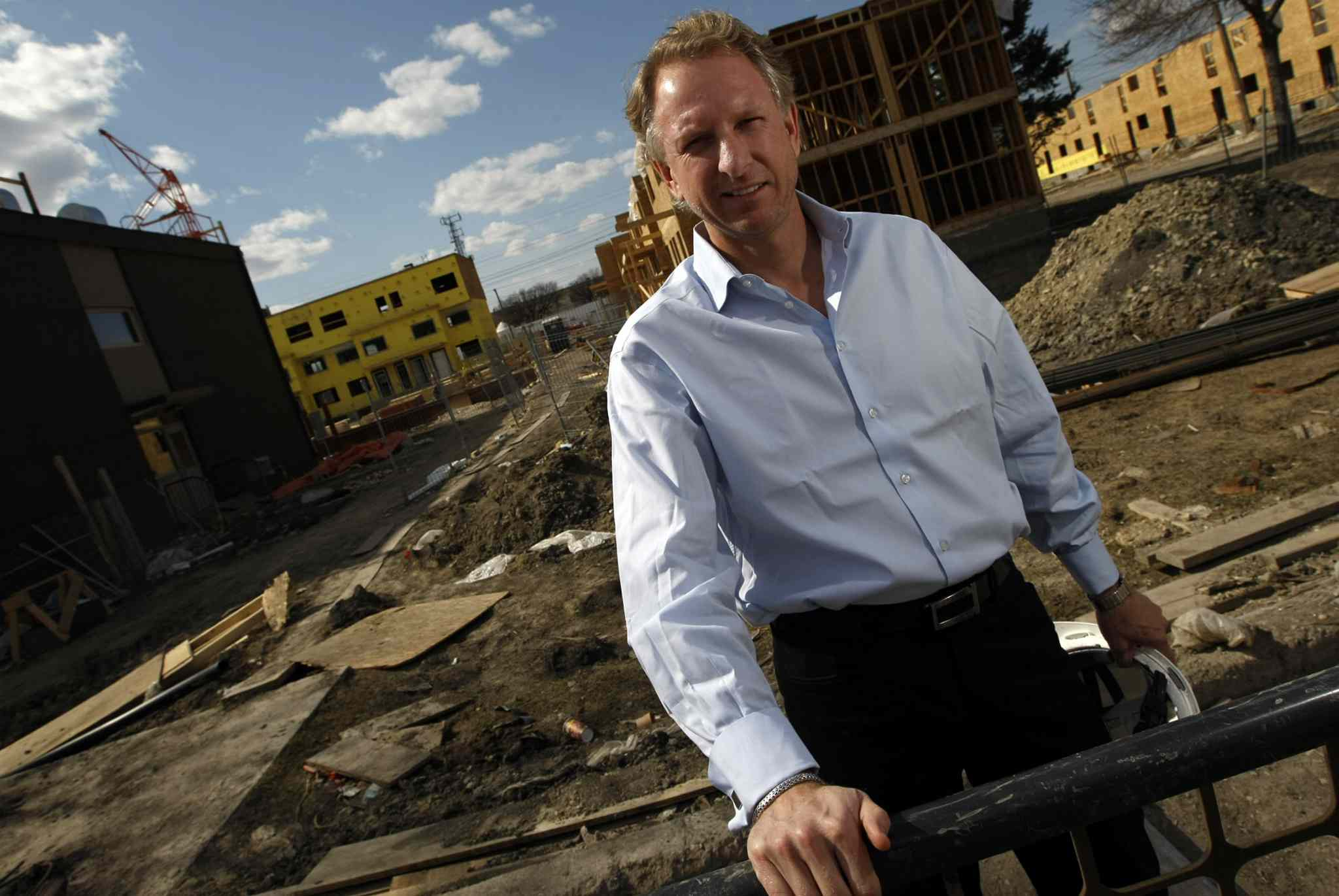 Andrew Marquess at the condo site between Fife and McPhillips streets in 2008.