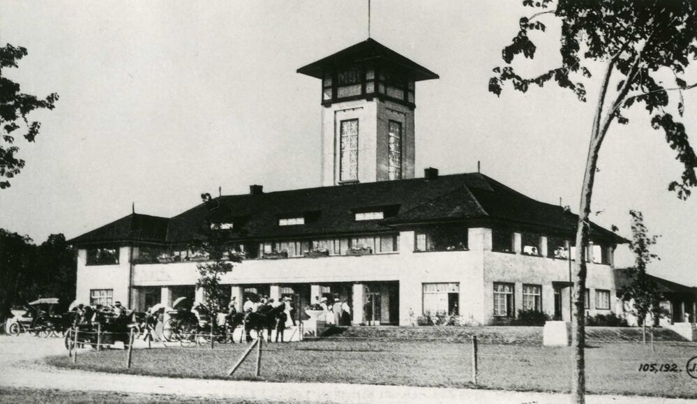 The first pavilion at Assiniboine Park. It burned down in 1927.  - Manitoba Archives