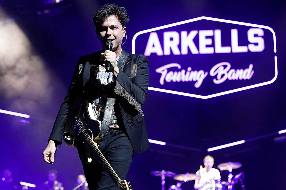 The Arkells perform at Bell MTS Place in Winnipeg, Monday. - JOHN WOODS / WINNIPEG FREE PRESS