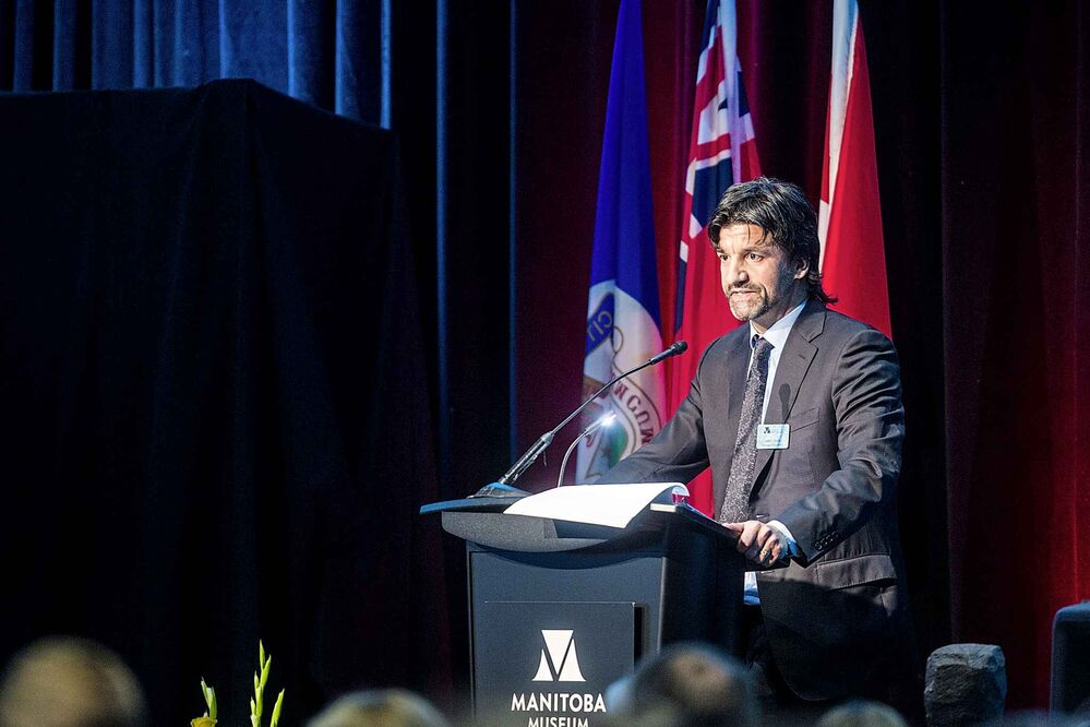 James Cohen, board chair, speaks at the Manitoba Museum Tribute Gala. - MIKAELA MACKENZIE / WINNIPEG FREE PRESS