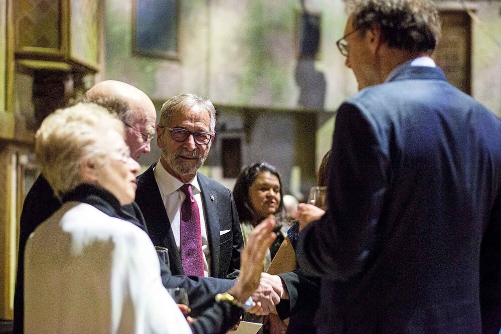 Co-owner Bob Silver mingles at the Manitoba Museum Tribute Gala. - MIKAELA MACKENZIE / WINNIPEG FREE PRESS