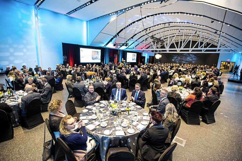 The Manitoba Museum Tribute Gala honouring the Winnipeg Free Press in Winnipeg on Thursday. - MIKAELA MACKENZIE / WINNIPEG FREE PRESS