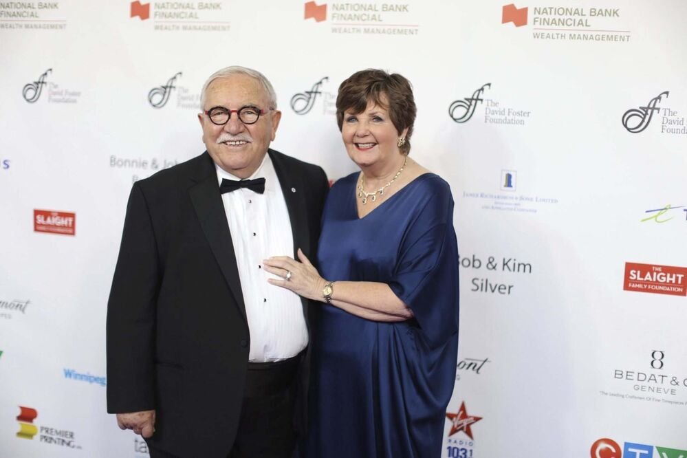 John and Bonnie Buhler on the red carpet prior to the David Foster Foundation Miracle Gala and Fundraiser, Saturday.<br><br>