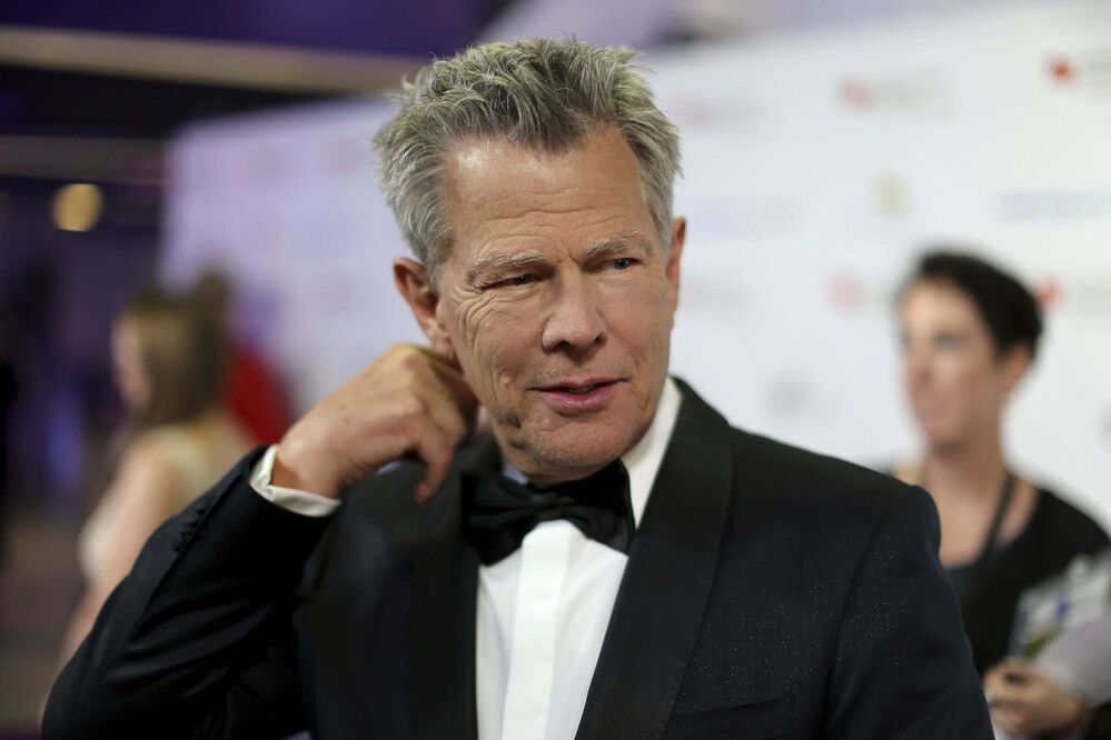David Foster on the red carpet at the David Foster Foundation Gala, Saturday.<br>