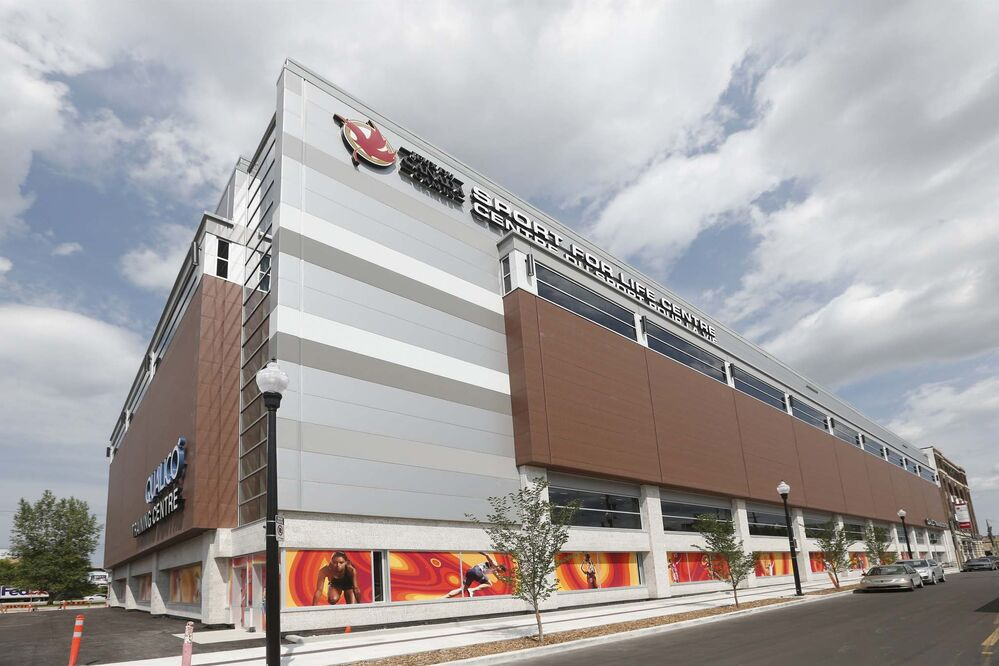 The new Sport For Life building is expected to open Tuesday.<br> - JOHN WOODS / WINNIPEG FREE PRESS</p>