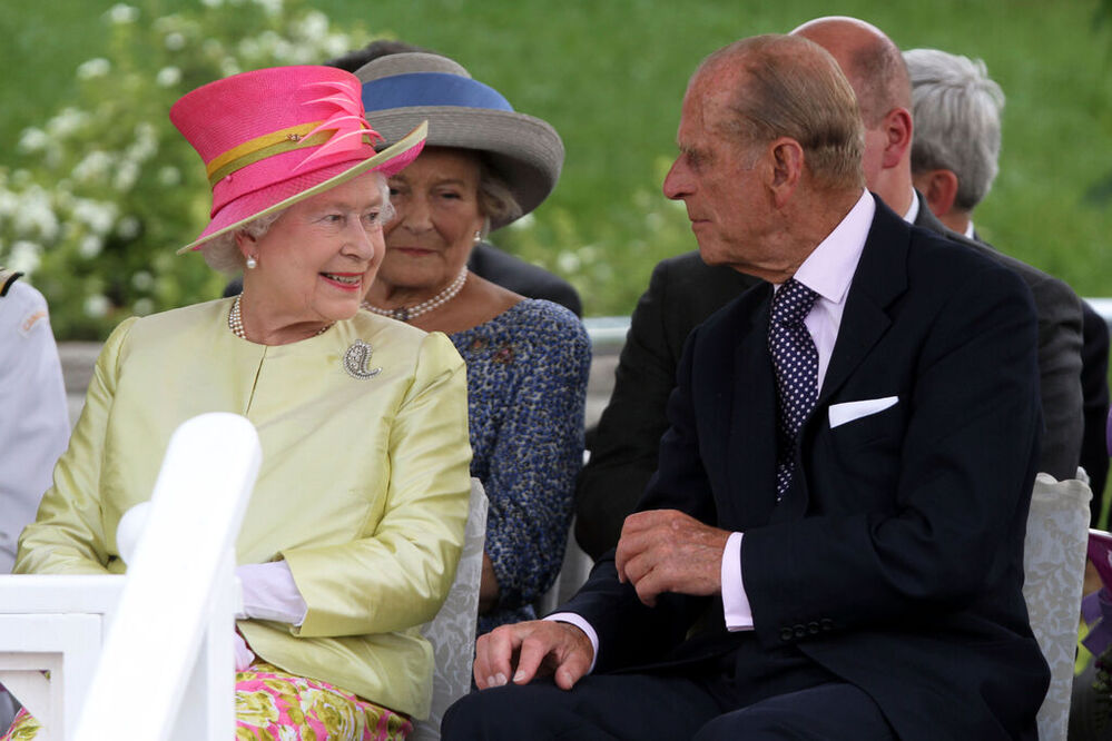 On July 3, 2010, Her Majesty Queen Elizabeth II and Prince Philip, the Duke of Edinburgh, share a smile at the concert in their honour at The Forks. (Janek Lowe / Winnipeg Free Press files) -
