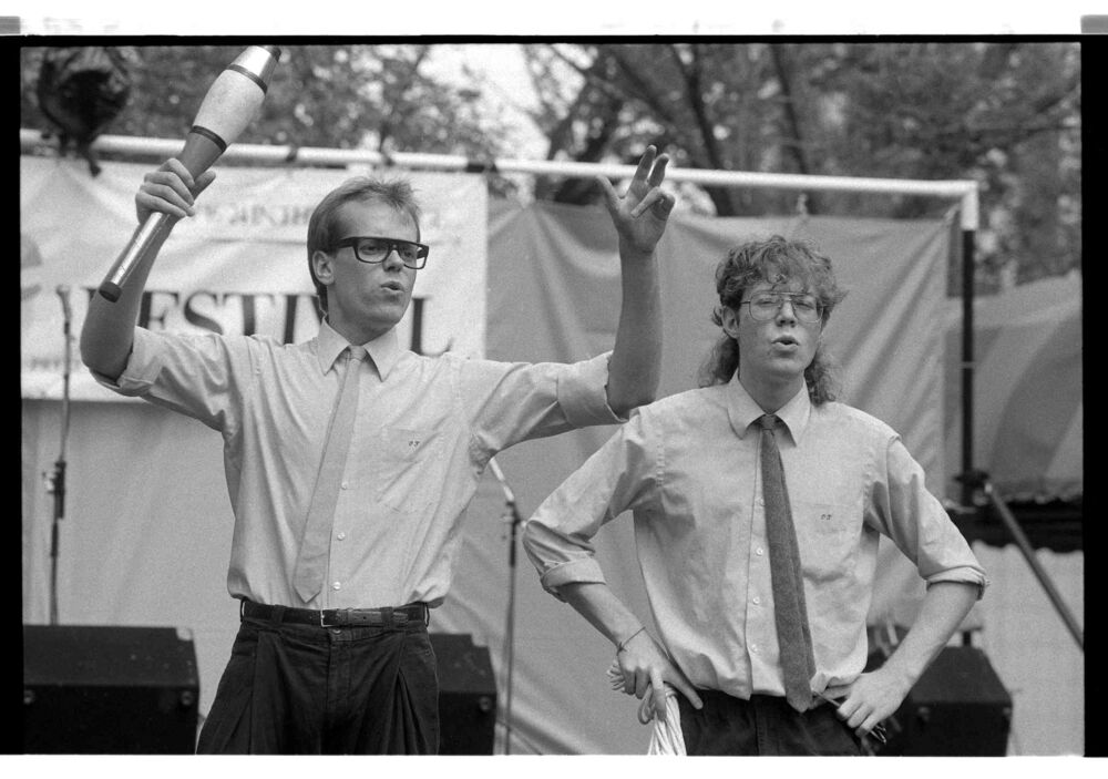 Keith and Gary (Something Strange) perform during Winnipeg's first Fringe Festival.
