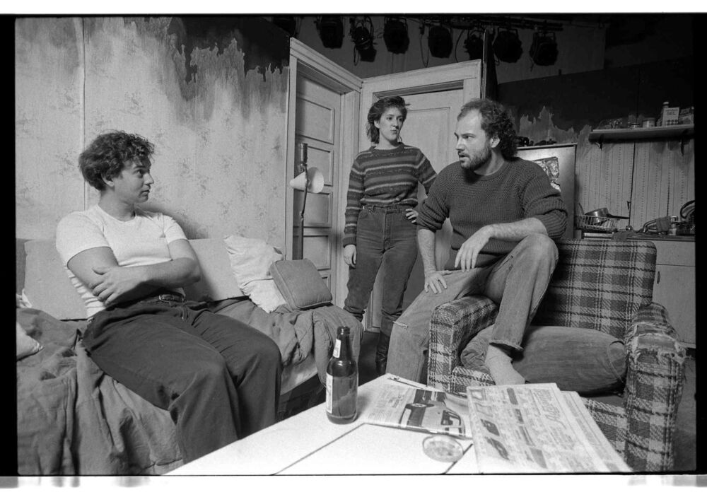 Kyle McCulloch, Ellen Peterson and Terry Sherbino in Harry Rintoul's Refugees at the Fringe Festival.