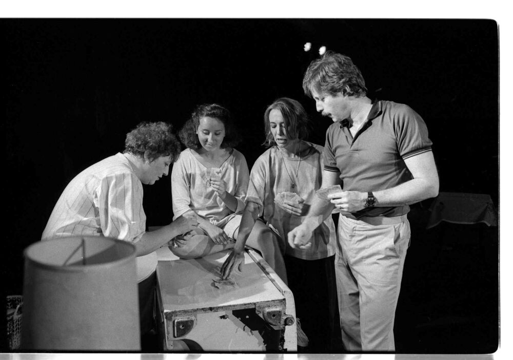 Local women's theatre co-op Les Dolles perform Vegetable Inside at the Fringe Festival.