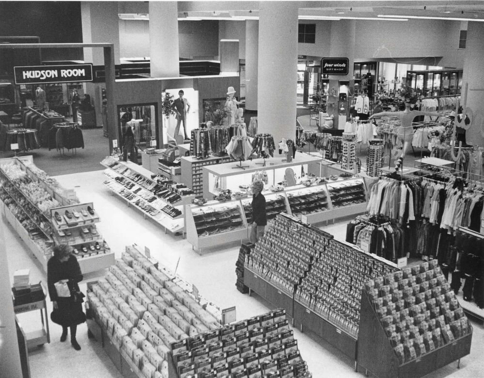 The first floor of the Hudson's Bay Co.'s downtown store circa 1973. - Winnipeg Free Press Archives