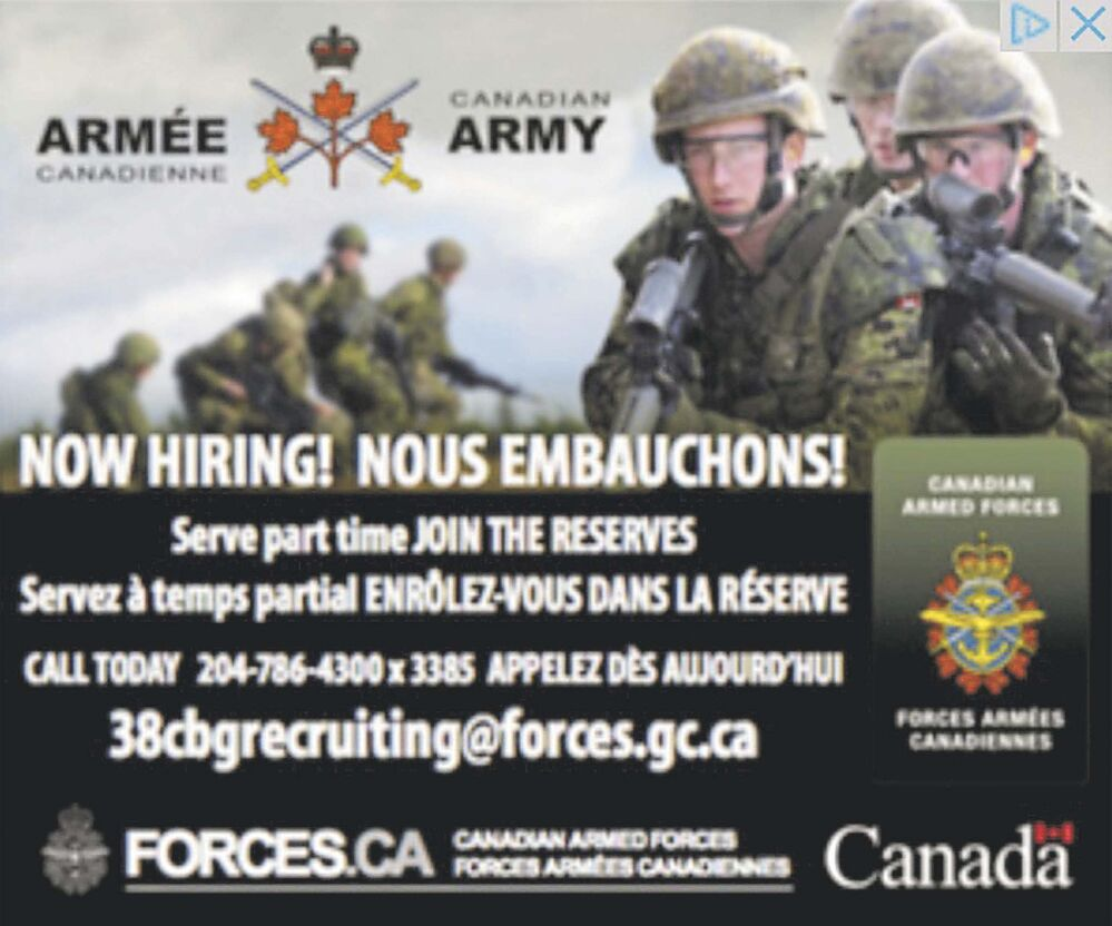 Mistake' leads to Canadian Forces ad on far-right website - Winnipeg