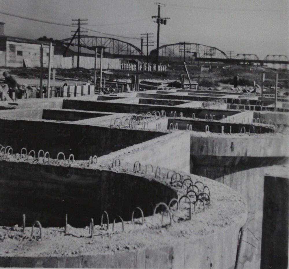 COURTESY CITY OF WINNIPEG ARCHIVES<br>The site under construction in 1946. Work on it began in May of that year.<br><br>