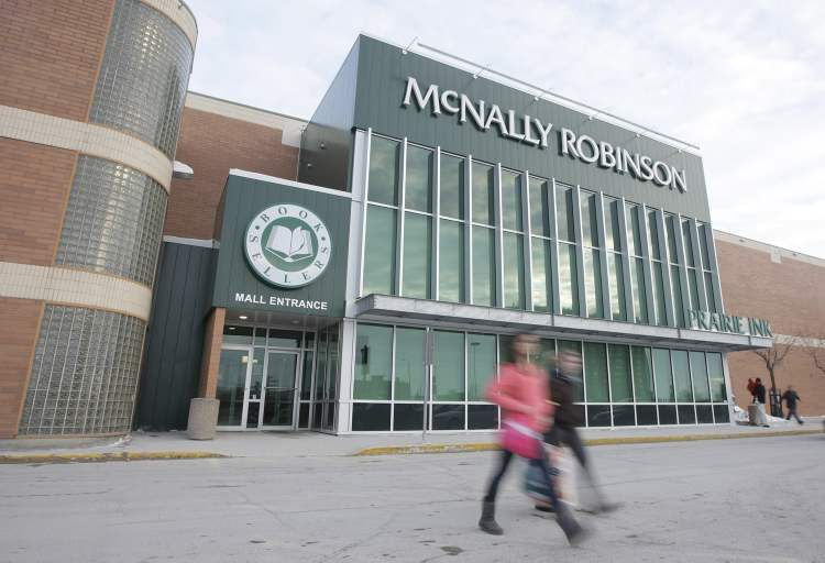 January 3, 2010: Customers leave McNally Robinson at Polo Park shortly before it closed for the last time.  (TREVOR HAGAN / WINNIPEG FREE PRESS)