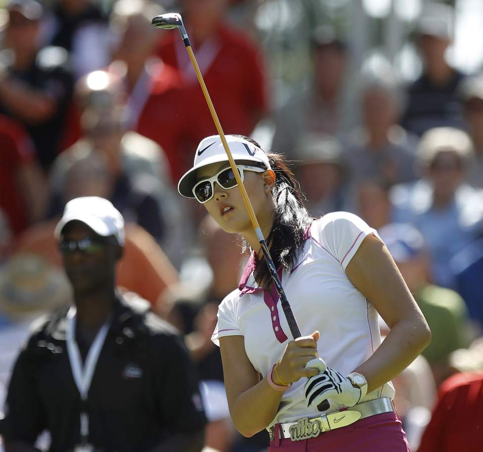 Michelle Wie tees off for her first round of The CN Canadian Women's Open, Thursday afternoon at St. Charles Country Club. (TREVOR HAGAN / WINNIPEG FREE PRESS)