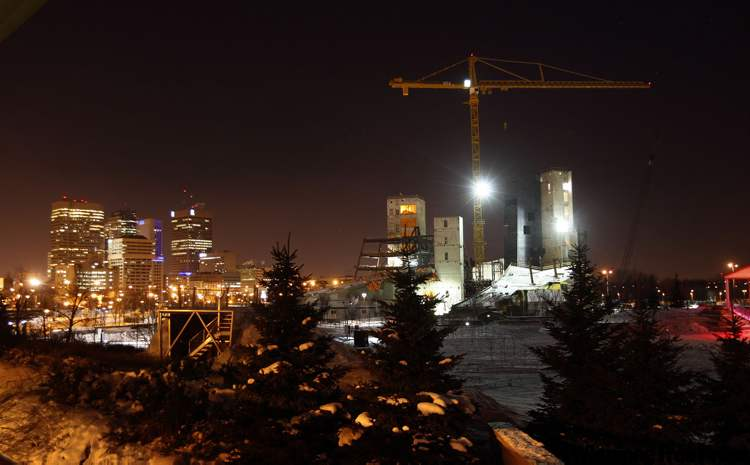 The Canadian Museum for Human Rights continues to rise Tuesday, taking its place in the Winnipeg skyline.