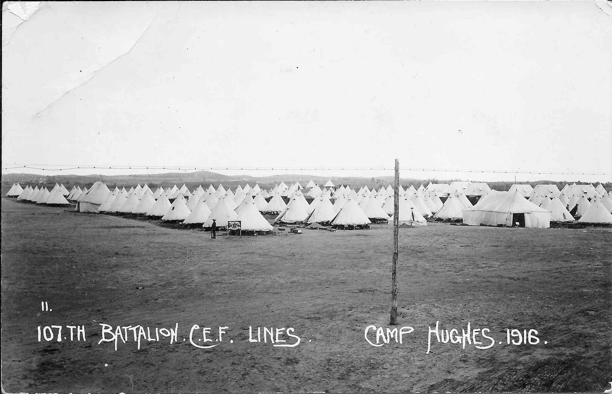 Soldiers' tents at Camp Hughes, 1916.