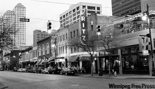 Winnipeg could have something great such as Sixth Street in Austin, Texas.