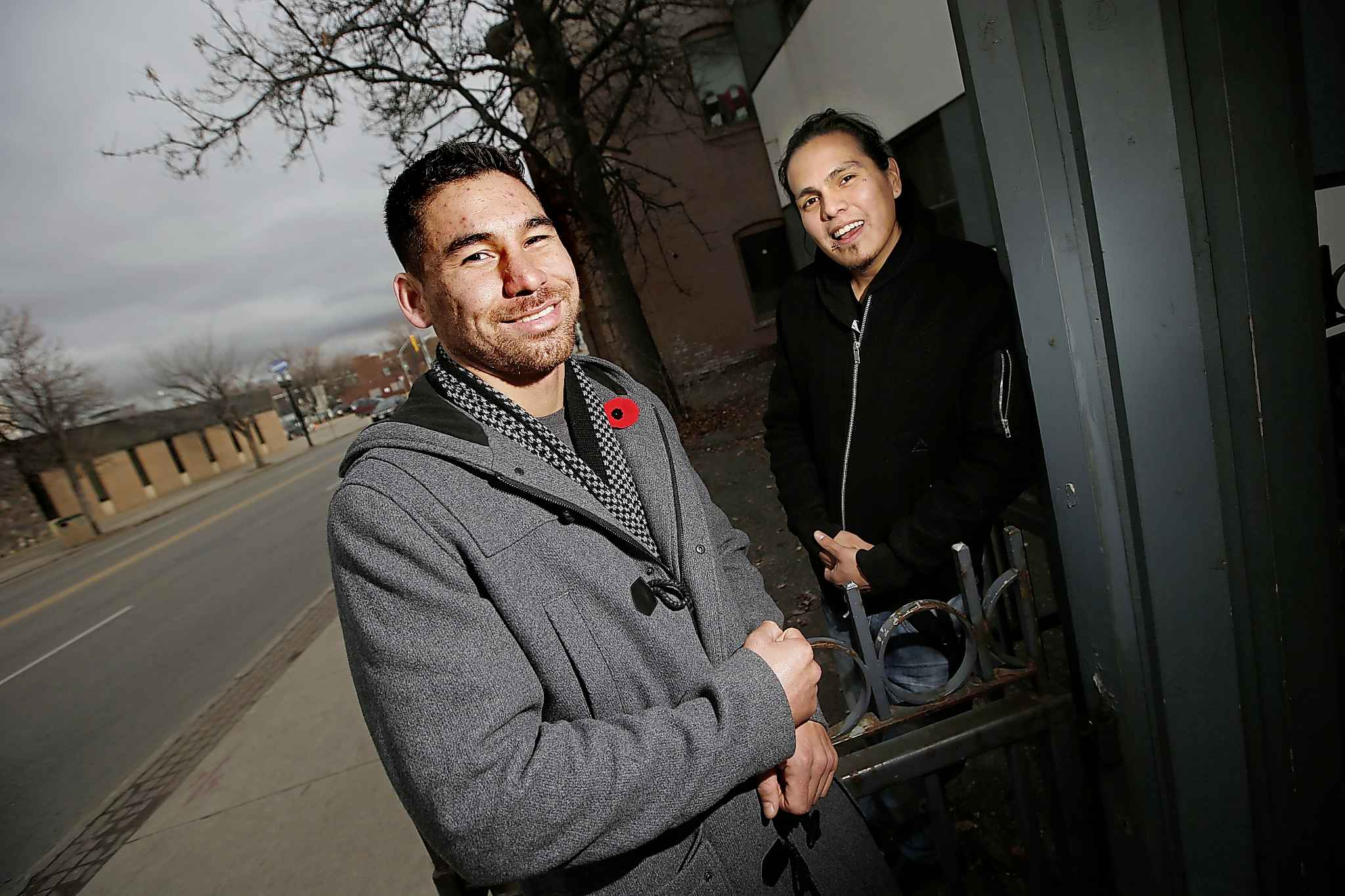 Jonathan Meikle, left, and Matthew Shorting (John Woods / Winnipeg Free Press files)