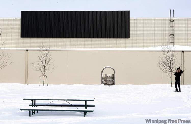 Carpathia School's solar wall faces south to capture more of the sun's rays.