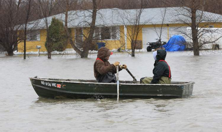 This scene in West Fargo in 2011 could be repeated this year as the flood forecast worsens.