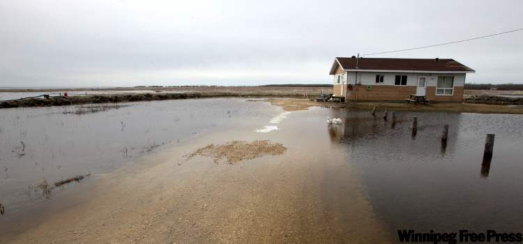 Flooding on the Lake St. Martin First Nation in May 2011.
