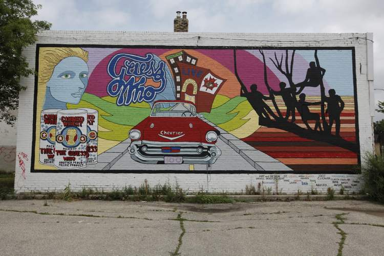 The Guess Who mural on North Main at Bannerman.