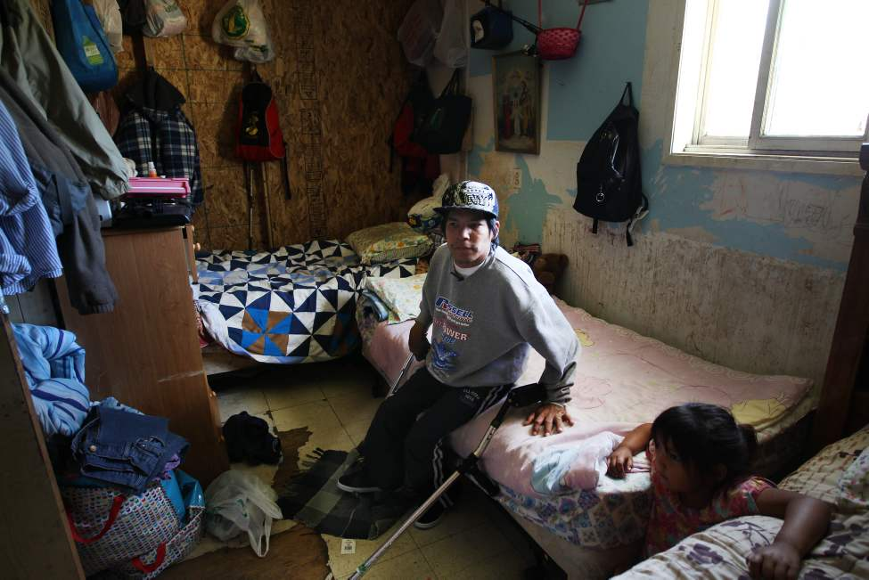 Kevin Taylor lives with cerebral palsy in St. Theresa Point in Island Lakes. His life is a struggle, made worse by the fact that he doesn't have running water.  (JOE BRYKSA / WINNIPEG FREE PRESS)
