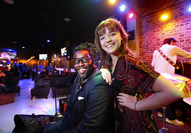 Juss Jazz owner Sean Sam with performer Alie Clark in 2011. The club, which opened in 2011, is looking to reopen in a new location.
