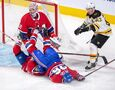 Halak stops 22 shots for third shutout, Bruins top Canadiens 4-0