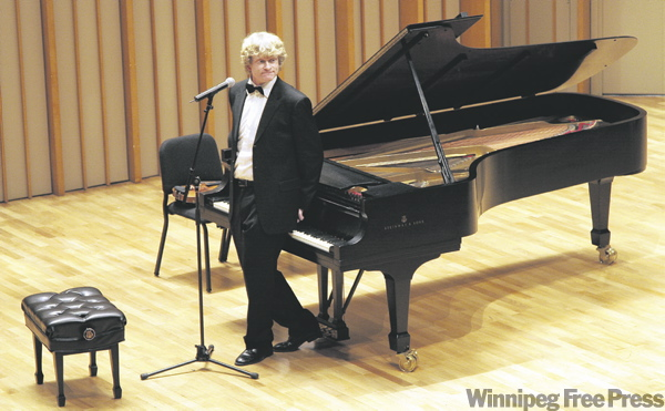 Martensson combines serious music with his onstage comedy persona the Maestro.