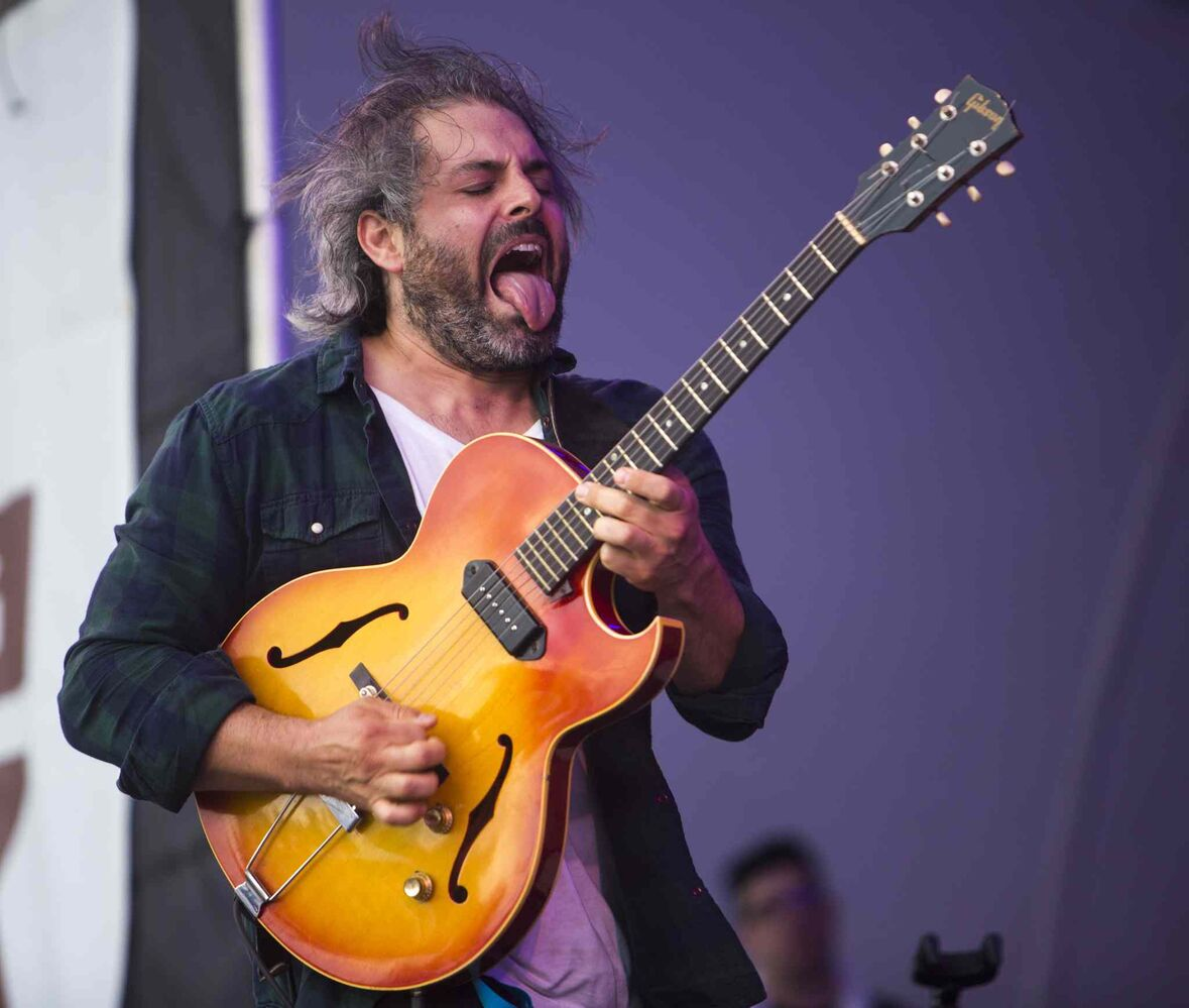 Gordon Grdina plays with Dan Mangan + Blacksmith plays at the Winnipeg Folk Festival at Birds Hill Provincial Park on Saturday, July 11, 2015.   Mikaela MacKenzie / Winnipeg Free Press (Winnipeg Free Press)