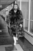 FILE - In this April 10, 1974 file photo Greek singer Demis Roussos in London. Renowned Greek singer Demis Roussos, a household name in the 1970s and 1980s across Europe and beyond, has died in Athens at the age of 68, a hospital confirmed Monday Jan. 26, 2015. (AP Photo/PA, File) UNITED KINGDOM OUT NO SALES NO ARCHIVE