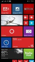 This screen shot shows the home screen of a phone running the Windows Phone 8.1 operating system. (AP Photo)