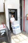 The Casper.com mattress is delivered in a box to your door and costs $650-$1,150, depending on size.