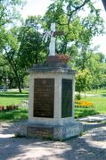 The First World War memorial at Vimy Ridge Park on Portage Avenue.