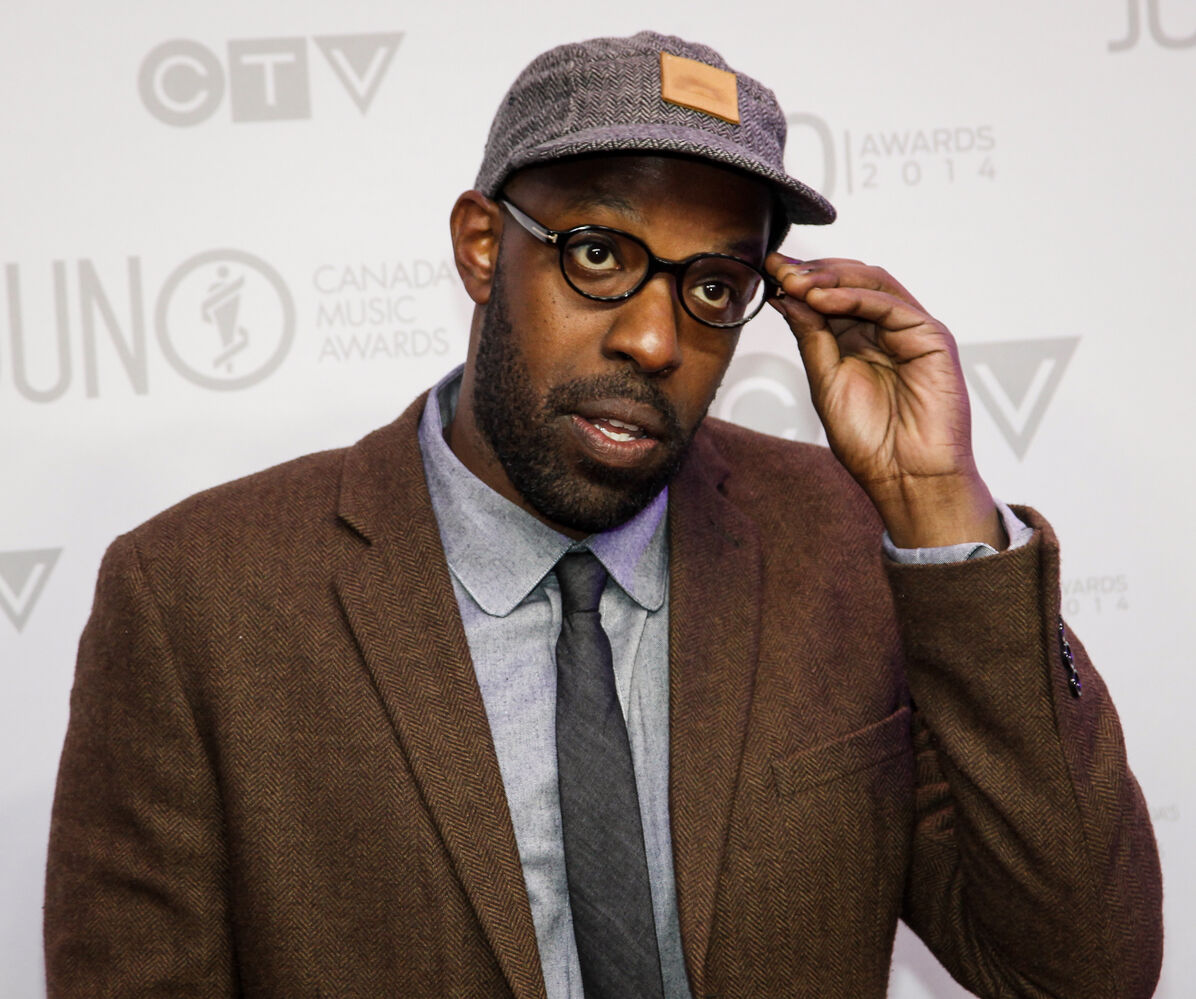 London, Ontario rapper Shad on the 2014 Juno Awards red carpet.