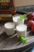 This June 9, 2014 photo shows a Texas tequila milkshake in Concord, N.H. Aged tequilas pair beautifully with ice cream. The alcohol will prevent the mixture from freezing solid. (AP Photo/Matthew Mead)