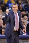 Memphis Grizzlies head coach David Joerger gestures from the sideline in the first half of an NBA basketball game Tuesday, Dec. 16, 2014, in Memphis, Tenn. (AP Photo/Brandon Dill)
