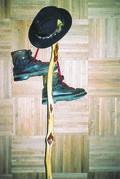 This photo of his hiking boots, walking stick and hat is a motivator for correspondent Ron Buffie to get out and get moving.
