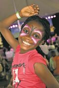 This young participant at Kidsfest 2013 is pictured having a whole lot of fun.