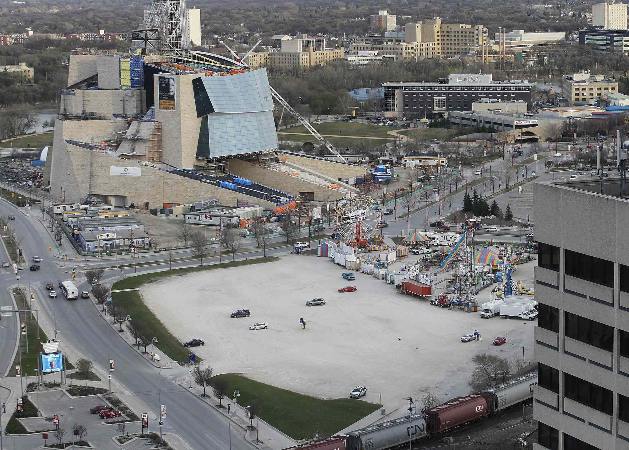 The Land at The Forks known as Parcel 4. Changes could be made to the plan for its development depending on feedback, officials say.