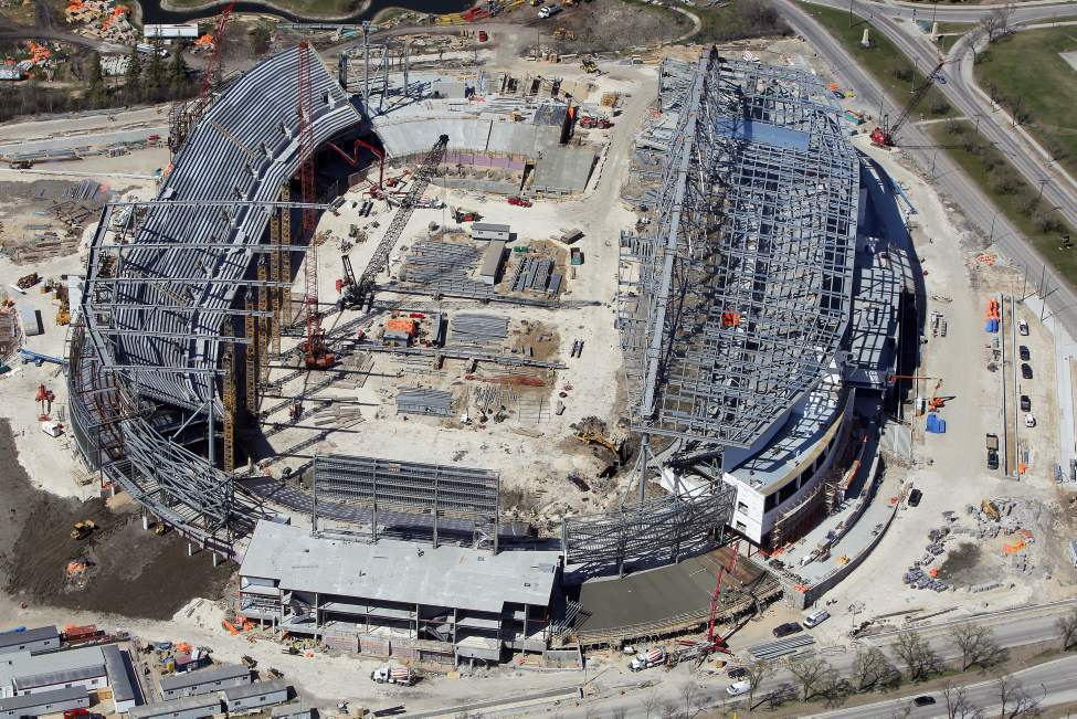 Aerial photos of the new Investors Group Field. The Stadium is being built at the University of Manitoba. April 26, 2012  BORIS MINKEVICH / WINNIPEG FREE PRESS