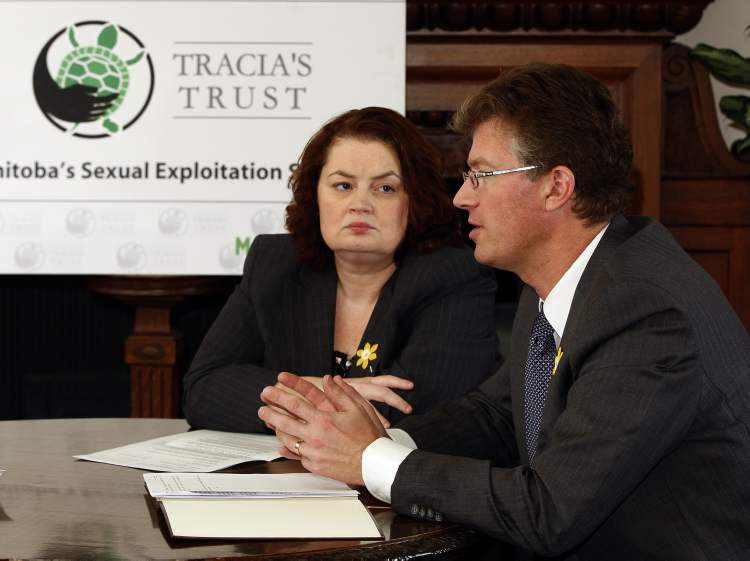 Jennifer Howard and Andrew Swan  announce Tracia's law.
