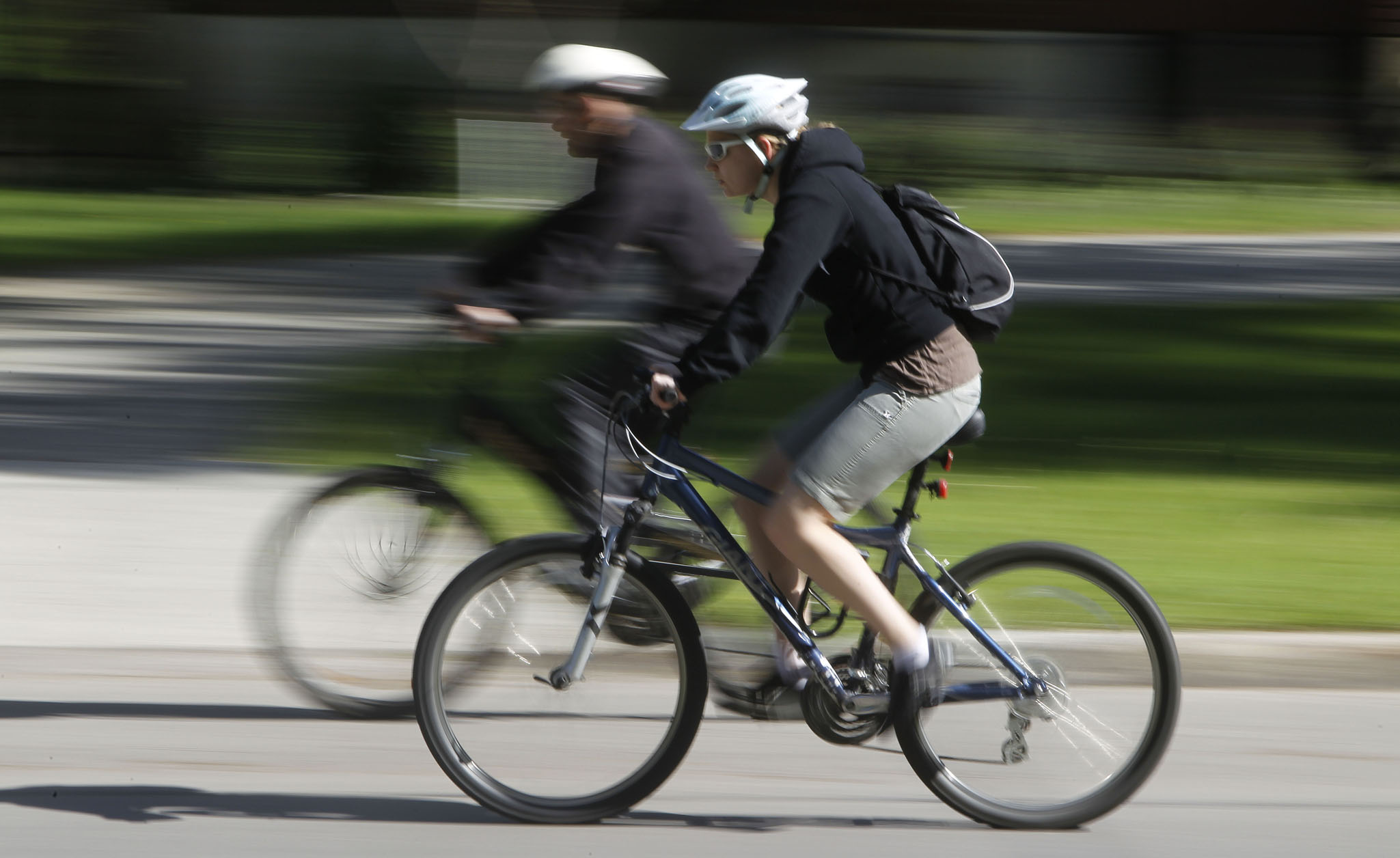 City hall hopes to have a bylaw in place to allow police to enforce the Sunday street closures along bike routes such as Wellington Crescent.
