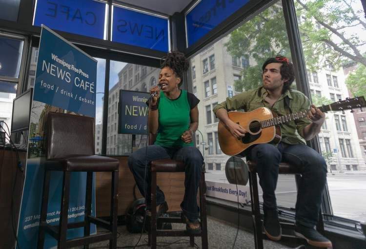 Singer Flo performed songs from her new album Pieces of Me at the Winnipeg Free Press News Café on Thursday.