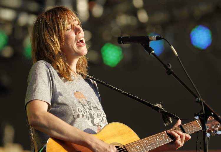 Beth Orton performs at the Winnipeg Folk Festival at Birds Hill Park, Friday. (Trevor Hagan / Winnipeg Free Press)