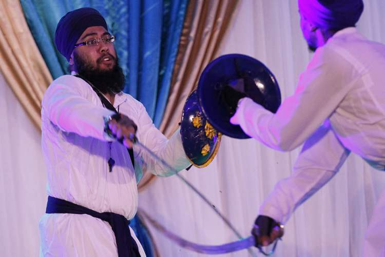 Performers at the Punjab Pavilion Monday, August 6, 2012.